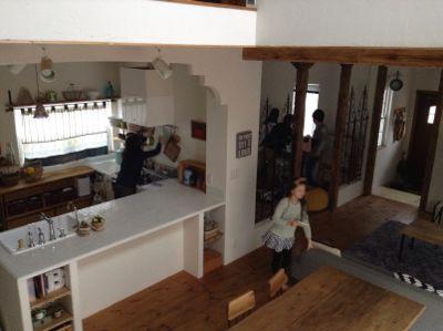 「&home」の撮影現場