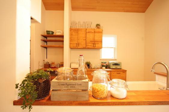 グリーンのあるキッチン
