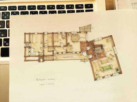 家の図面の写真