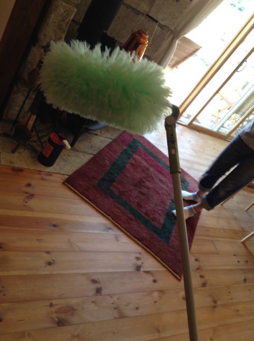 ふさふさの掃除用具