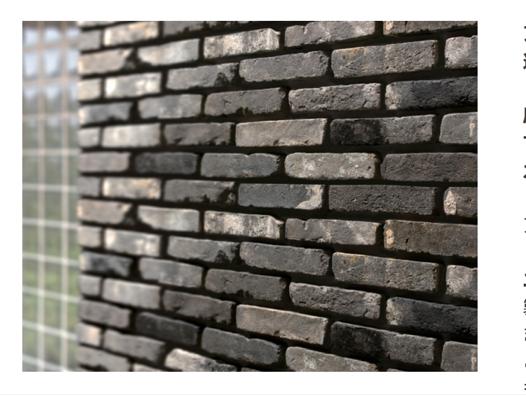 グレー色のレンガ壁
