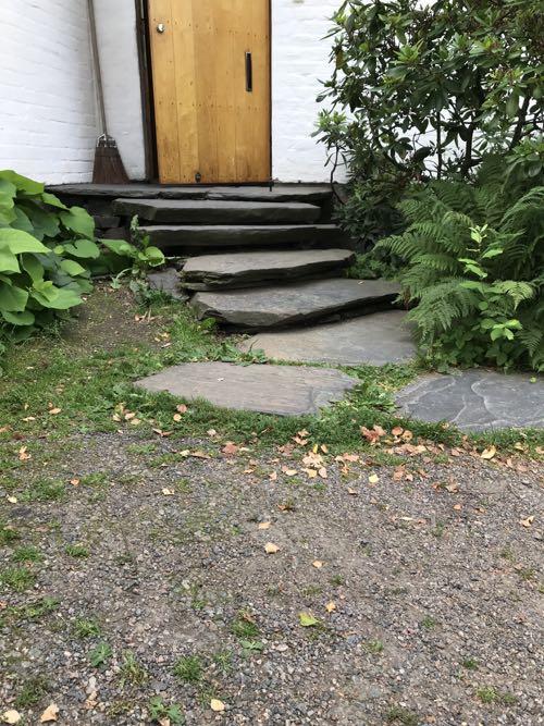 自然石の階段