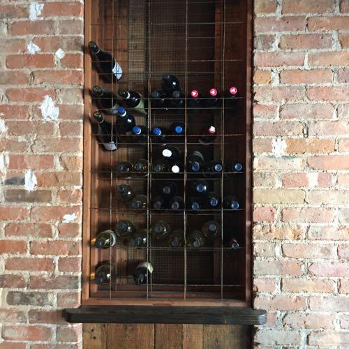 手作りのワインラック