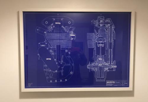 バイクのエンジンのポスター