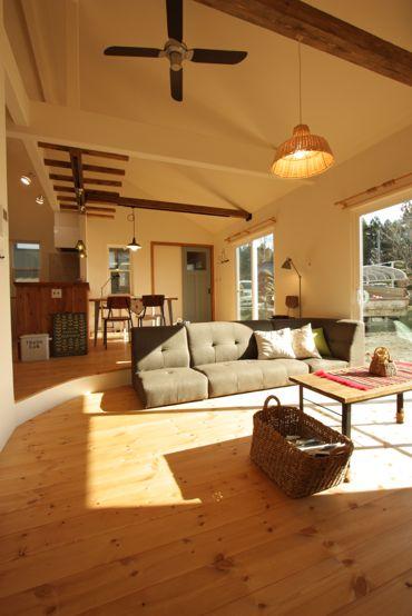 勾配天井が素敵な平屋の家