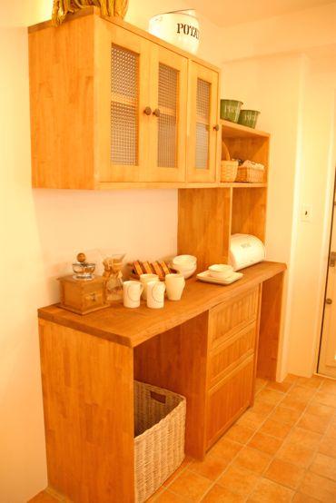 キッチンの取り付け棚