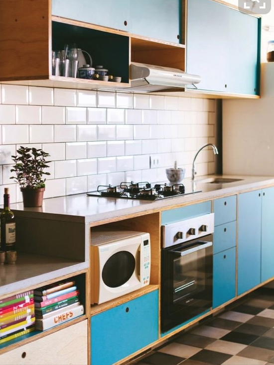 導線を意識したキッチン