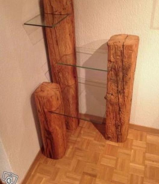 木とガラスの棚